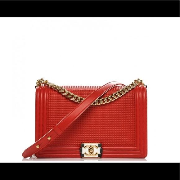 90a78764063720 CHANEL Bags | Boy Flap Cube Medium Red Bag | Poshmark